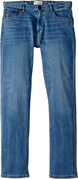 Brady Light Wash Slim Leg Knit Jeans in Gondola (Big Kids)