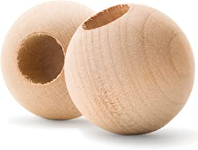 Wood Dowel Caps - 1-1/2 Inch Diameter with 1/2 Inch Hole - Dowel Rod Caps for 1/2 Inch Dowel Rods - for Crafts and DIY'ers - Pack of 12 by Woodpeckers