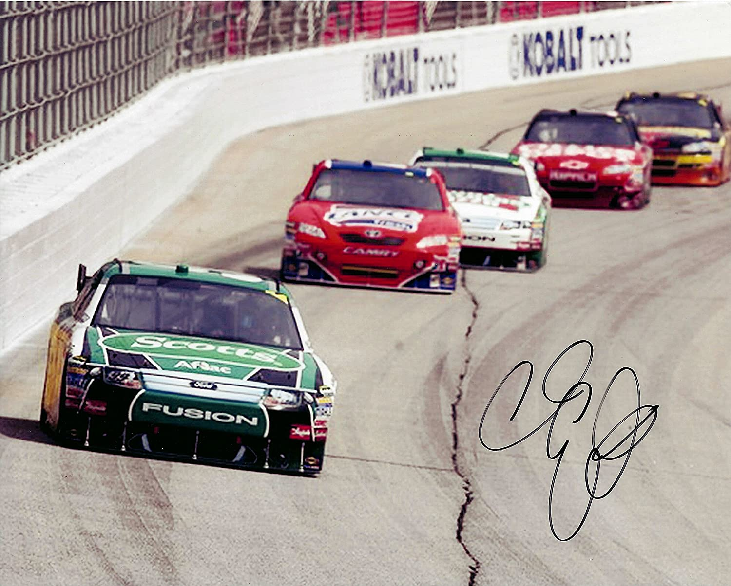 AUTOGRAPHED 2011 Carl Edwards #99 Ranking TOP14 Racing Scott's Team On-Track Department store