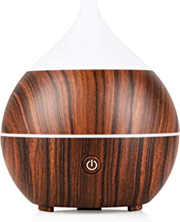 Zeetra Mini Desk Humidifier and Diffuser: Personal Desktop Air Humidifiers and Diffusers for Essential Oils - Portable Cool Mist Aromatherapy with Color Changing LED Light for Bedroom, Office, Home