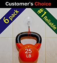 SillyCute Super Heavy Duty Suction Cup Hook, Suction Lasts Years, Strong Hanger for Bathroom, Kitchen Accessories, Wreath, Bird Feeder, Christmas Lights and More, Clear, 3 1/4