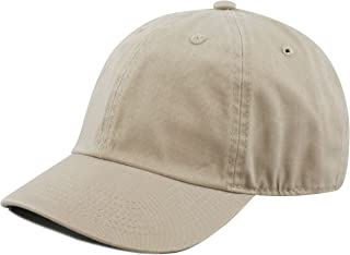 THE HAT DEPOT Kids Washed Low Profile Cotton and Denim Plain Baseball Cap  Hat 8f53c1685b86