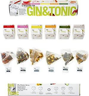 Té Tonic Experience Nanopack 6 Infusions Flavoring Gin Cocktail with Fresh Botanicals, Spices, Herbs and Flowers