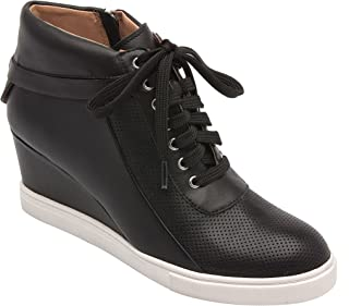 Freja | Womens Lace-up Comfortable Leather Platform Wedge Sneaker