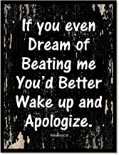 SpotColorArt If You Even Dream of Beating Me You'd Better Handcrafted Canvas Print