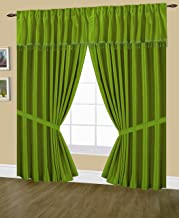 Editex Home Textiles Elaine Lined Pinch Pleated Window Curtain, 144 by 95-Inch, Green