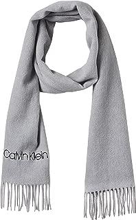 Calvin Klein Jeans Women's CLASSIC WOOL SCARF W Scarves, Grey (Light Grey Heather P01), One Size