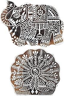 Hashcart Beautiful Animal and Bird Design Wooden Blocks for Making Pottery Crafts/Scrapbooking - Xmas Décor