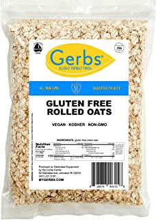GERBS Traditional Rolled Oats, 64 ounce Bag, Top 14 Food Allergy Free, Non GMO, Pesticide Free, Keto, Paleo Friendly