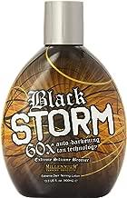 Millenium Tanning - Black Storm Premium Tanning Lotion, 60x Auto-Darkening Tan Technology Extreme Silicone Bronzer - 13.5 Ounce