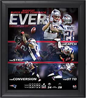 New England Patriots Super Bowl LI Champions Framed 15'' x 17'' Biggest Comeback Ever Collage - NFL Team Plaques and Collages
