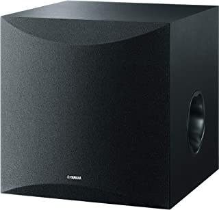 Yamaha Subwoofer Speaker with 100W Output Power, Twisted Flare Port - NSSW100B (Black)