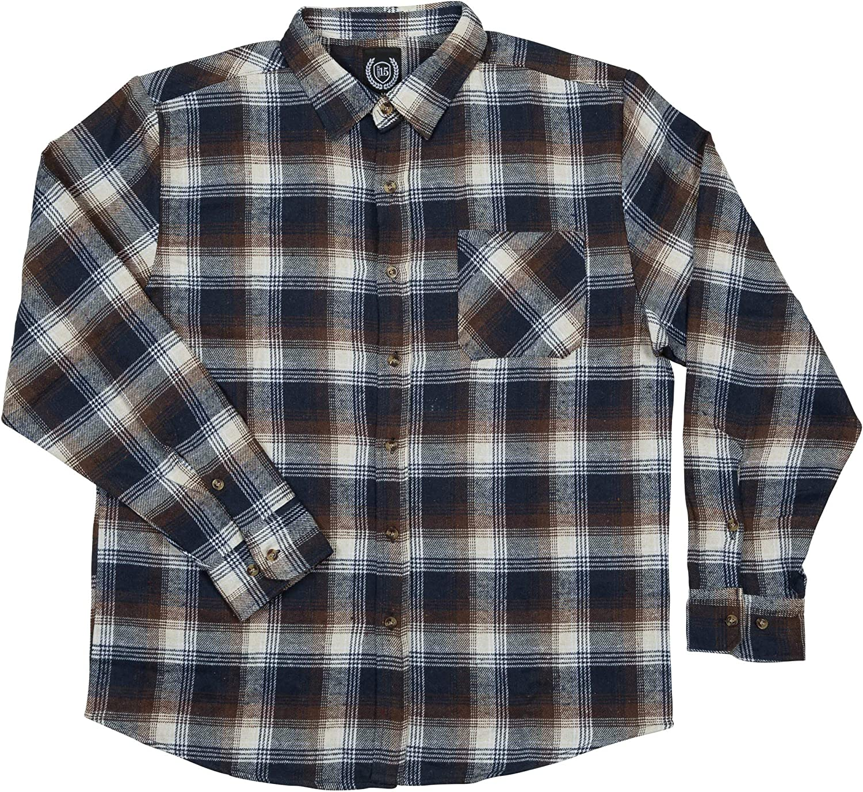 North 15 Men's%100 Cotton Flannel Shirt