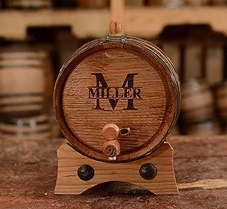 Sofia's Findings Custom Whiskey Barrel - Personalized Wine Barrel - Engraved Oak 2 Liter Barrel   Age Your own Tequila, Whiskey, Rum, Bourbon, Wine
