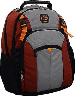 "SwissGear Sherpa 16"" Padded Laptop Backpack/School Travel Bag - Red/Orange"