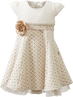 Lilax Little Girls' Sparkle Polka Dot Twirl Dress