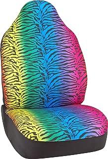 Bell Automotive 22-1-56808-8 Universal Rainbow Zebra Print Seat Cover