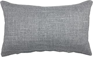 YOUR SMILE Solid Color Oblong Rectangle Decorative Cotton Linen Throw Pillow Case Cushion Cover Pillowcase for Couch Sofa Bed,12 x 20 Inches,Grey