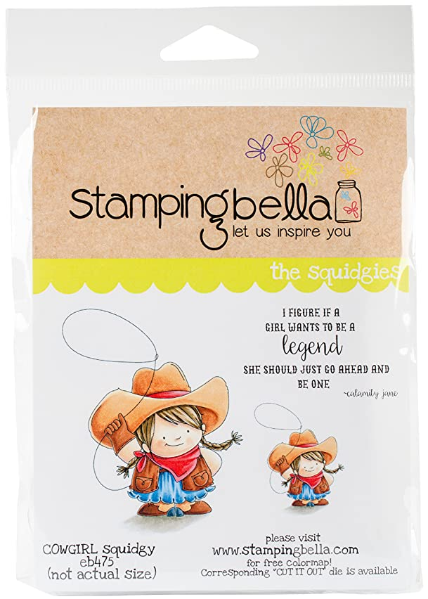 Stamping Bella EB475 Cling Stamps-Cowgirl Squidgy