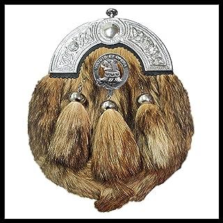 Pentland Scottish Clan Crest Badge Dress Fur Sporran