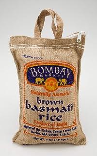 Bombay Market Basmati Brown Rice - 4 Pound Bag