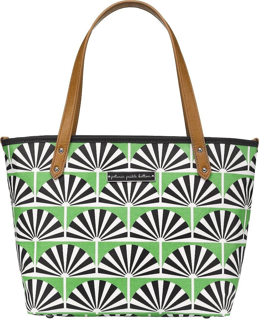 ネイティブ器用一時停止Petunia Pickle Bottom Downtown Tote Mini Diaper Bag in Playful Palm Springs, Green by Petunia Pickle Bottom