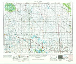 North Dakota Maps - 1953 Devils Lake, ND USGS Historical Topographic Map - Cartography Wall Art - 53in x 44in