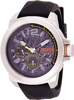 Hugo Boss Men's Grey Dial Rubber Band Watch - 1513347