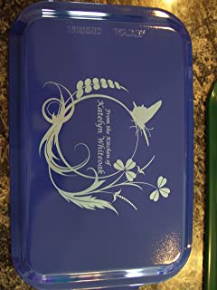 Custom and Personalized Covered Cake Pan 24 Designs Your Wording (Blue)