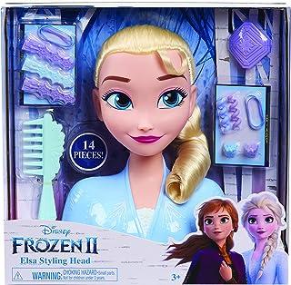 La Reine des Neiges 2 Elsa, Tête à Coiffer Basic, 14 Accessoires de Coiffure Inclus, Jouet pour Enfants dès 3 Ans FRND2000...