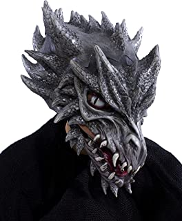 Sid The Silver Dragon Latex Moving Mouth Mask