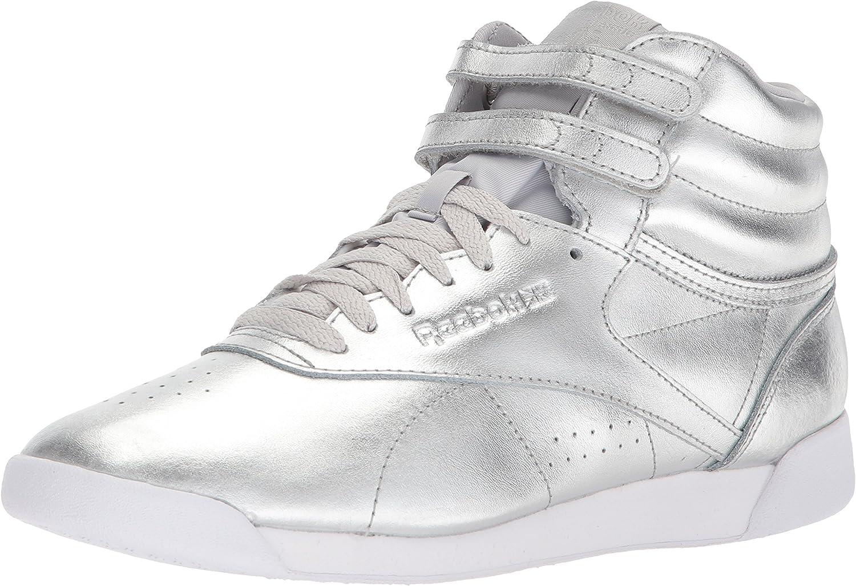 Reebok Womens F S Hi Metallic Sneaker