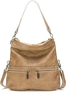 product image for Golden Tan Italian Leather Medium Convertible Foldover Crossbody