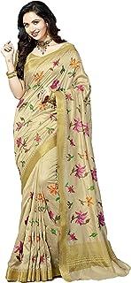 M.S.Retail Silk Saree with Blouse Piece (AC-RL-1016_White_Free)