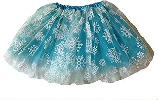 KWC - Turquoise & White Snowflakes Snow Inspired Tutu (Elsa)