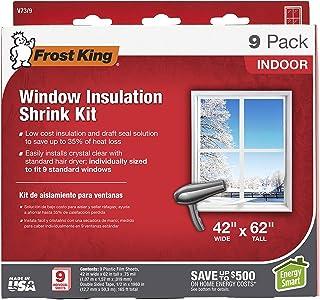 Frost King V73/9H Indoor Shrink Window Kit 42 62-Inch, Clear, 9-Pack