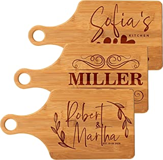 Personalized Cutting Board - Paddle Cutting Board - Personalized Gifts - Wedding Gifts for the Couple, Engagement Gifts, Housewarming Gift, Custom Gifts - Cheese Board