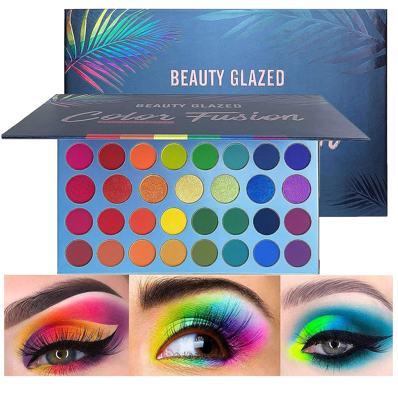 39 Shades Regular dealer High Pigmented Rainbow Time sale Metallic Shimmer Eyeshadow Pale