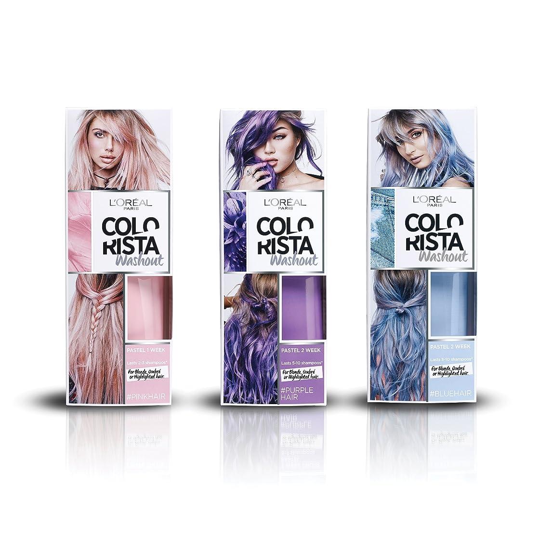 L'Oreal Paris Colorista Festival Pastel Unicorn 3-Piece Bundle Hair Dye Washout