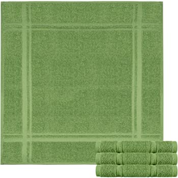 Lashuma Juego de 4 paños de cocina de rizo – Paños de cocina de 100% algodón – Paños de cocina en bonitos colores de moda, 100 % algodón, verde musgo., 50 x 50 cm: Amazon.es: Hogar