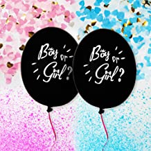 Gender Reveal Balloon With Confetti & Powder - Gender Reveal Balloon Box With 2x 36 Inch Gender Reveal Balloon, Pink And Blue Powder Confetti & Ribbons
