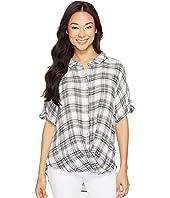 Mod-o-doc - Novelty Shirtings Short Sleeve Twist Hem Shirt