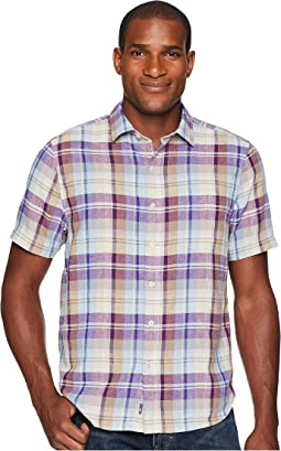 La Paz Plaid Short Sleeve Camp Shirt