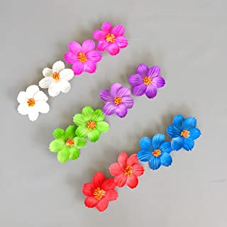 Butterfly Craze Hawaiian Hibiscus Flower Hair Clips for Luau Party Favor Hawaiian Party Decoration - 12 pcs