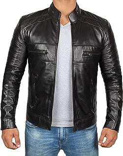 fjackets Brown Leather Jacket Men - Genuine Lambskin Mens Leather Jacket