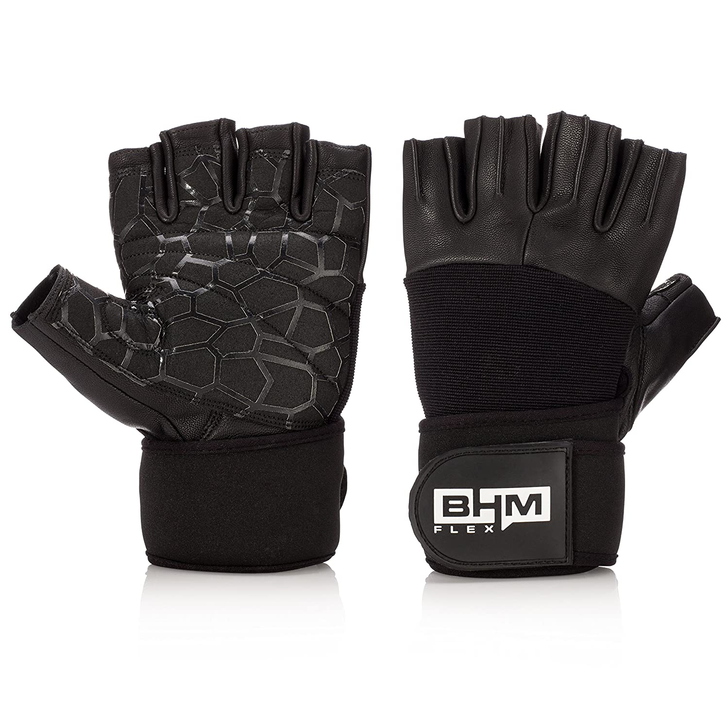 Workout Fitness Gloves - Women/Men Lightweight Leather Gloves - Sports/Gym/Weightlifting/Crossfit/Exercise/Training/Climbing Wrist Wraps Glove - Support Equipment Full Palm Protection Power Grips