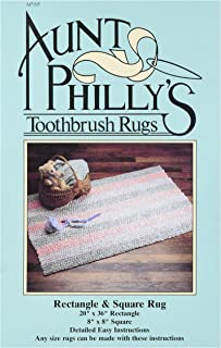 Aunt Philly's Toothbrush Quilts AP105 Rectangle & Square Toothbrush Rug