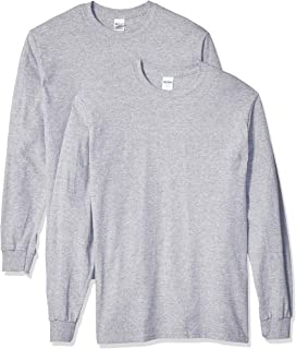 Gildan Men's Heavy Cotton Long Sleeve T-Shirt, Style G5400, 2-Pack