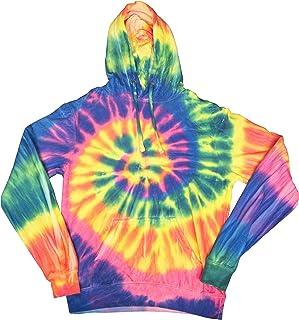 2Bhip Swirly Spiral Unisex Adult Tie Dye Hoodie Hooded Sweatshirt