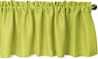 Aiking Home Pure 100% Faux Linen Window Valance - Size 56 inch x 16 inch, Lime